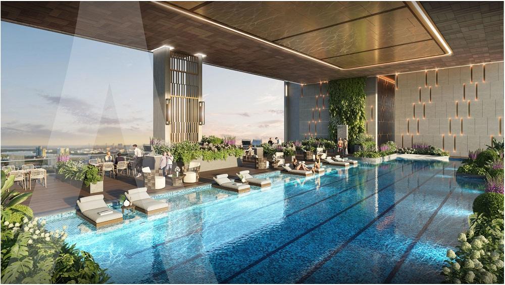 Bể bơi chân mây dự án Astral City