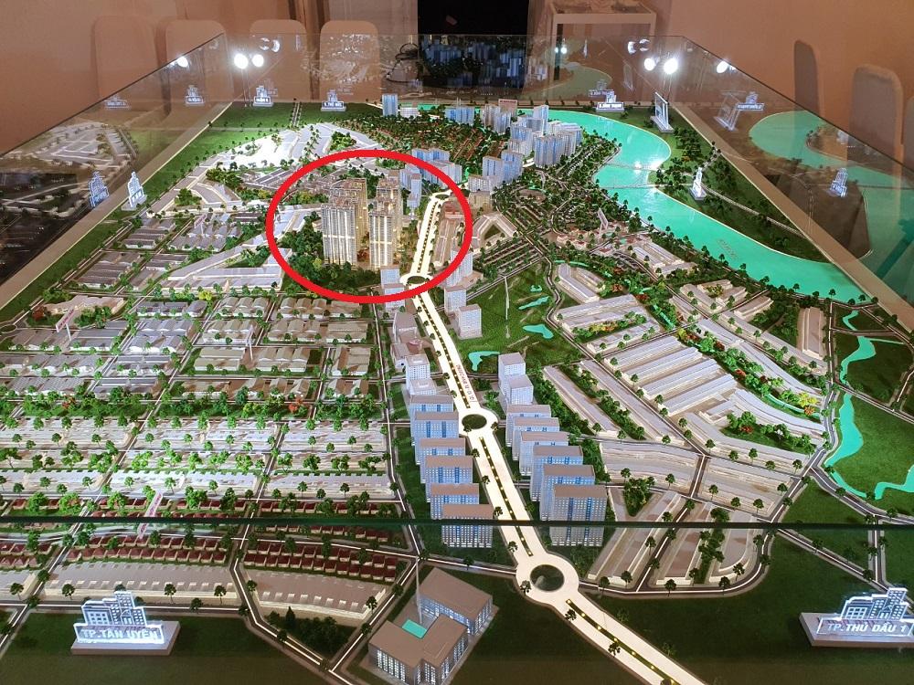 Sa bàn tổng thể đánh giá vị trí dự án Astral city