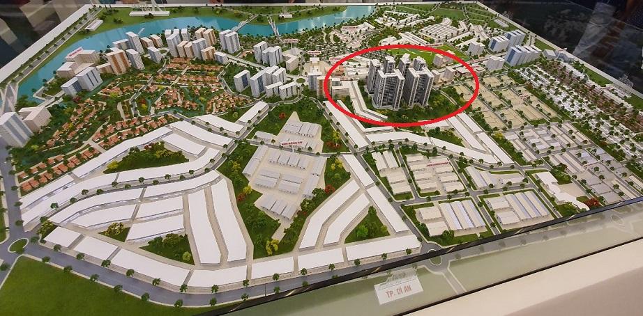 Sa bàn tổng thể vị trí dự án Astral city