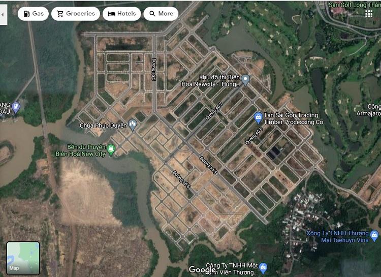 Hình ảnh thực tế dự án Biên Hòa New City nhìn từ trên cao