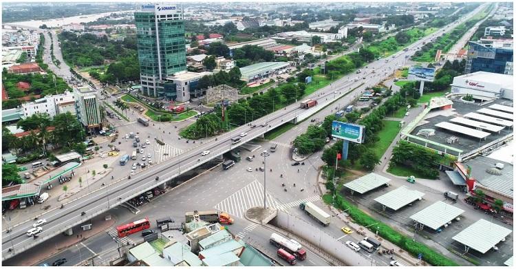 Từ dự án Biên Hòa New city, đi về Ngã ba Vũng Tàu rất gần