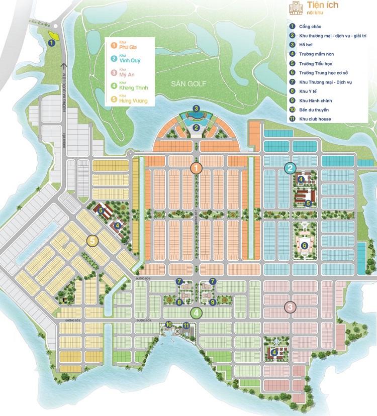 Đánh giá mặt bằng tổng thể dự án Biên Hòa New City là rất hài hòa
