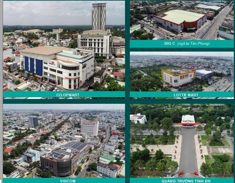 Hình ảnh thực tế một số tiện ích ngoại khu dự án Biên Hòa Universe Complex