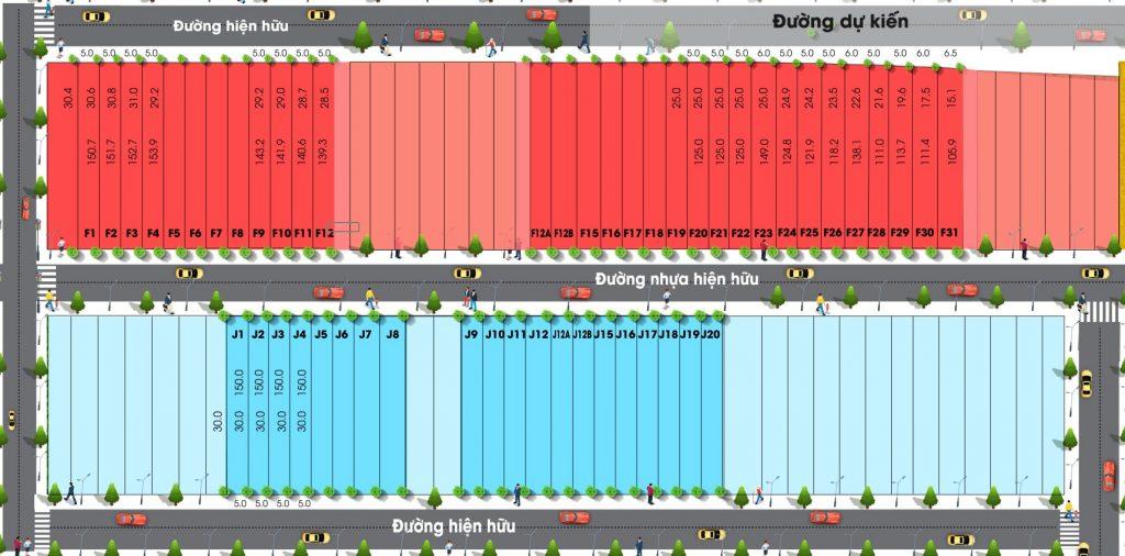 Hình ảnh phân lô chi tiết Dự án Phú Mỹ City Center