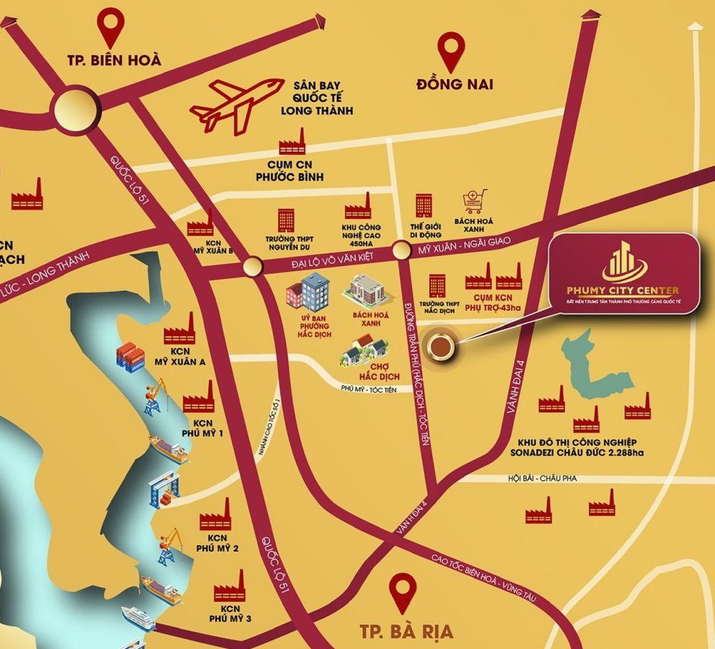 Vị trí dự án - Dự án Phú Mỹ City Center