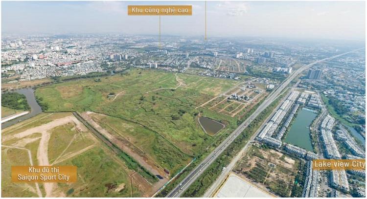 Tổng quan hình ảnh dự án từ trên cao