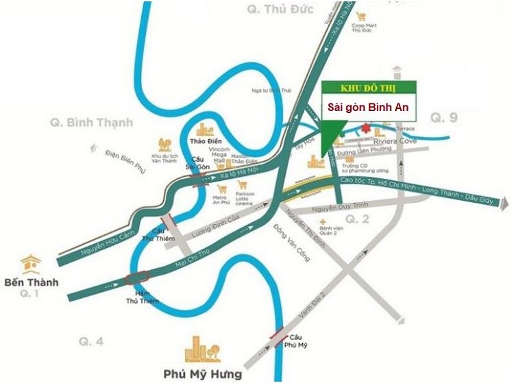 Vị trí dự án Sài Gòn Bình An 117ha