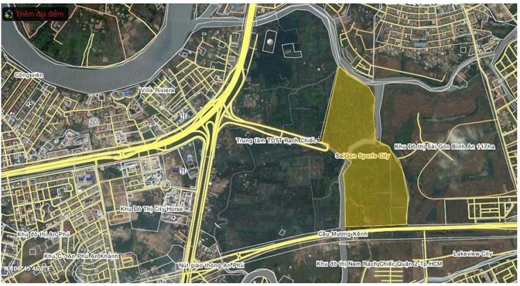 Bản đồ khu đô thị Sài Gòn Bình An 117ha