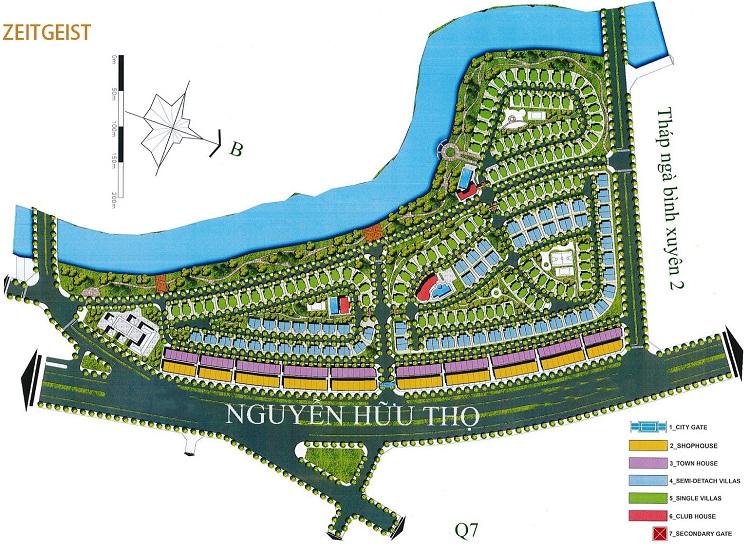 Phối cảnh dự án Zeitgeist nhìn từ đường Nguyễn Hữu Thọ