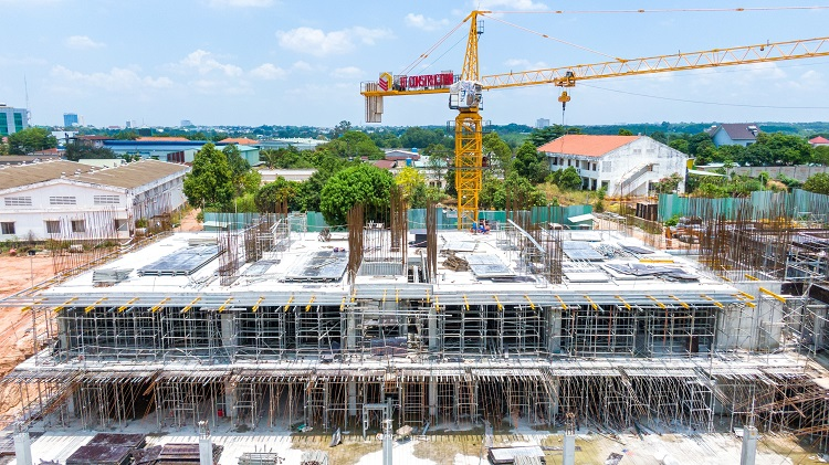 Một góc dự án Lavita Thuận An, Bình Dương đã bắt đầu lên tầng