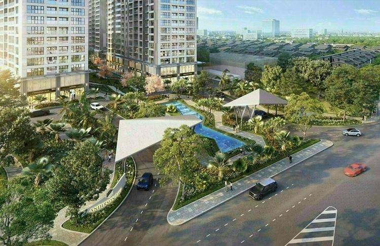 Cổng chính dự án Lavita Thuận An
