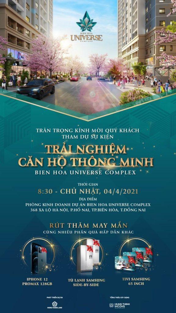 Thư mời tham dự lễ mở bán Biên Hòa Universe Complex